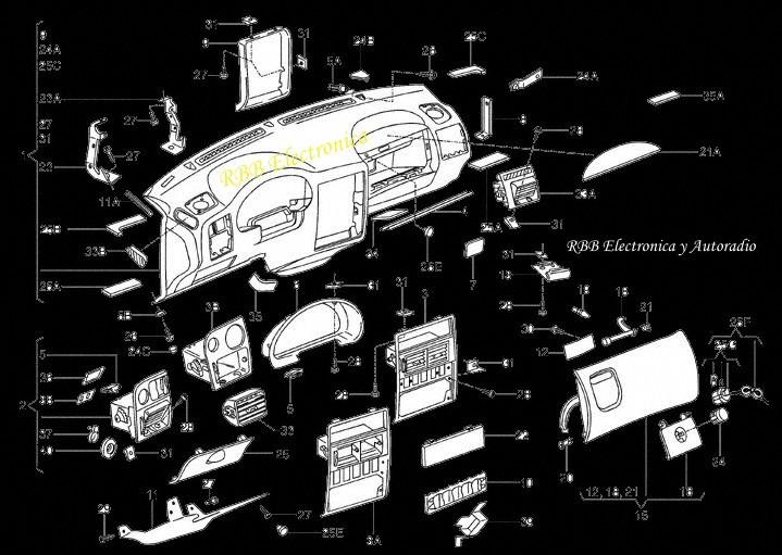 calefaccion del automotor -  Despiece de Torpedo